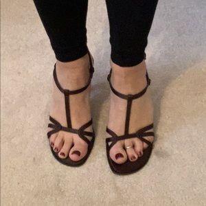 VENELLI Di Notte Evening Sandals Brown -Size 7 1/2